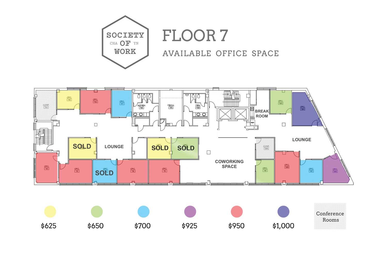 Image of Floor 7 floor plan